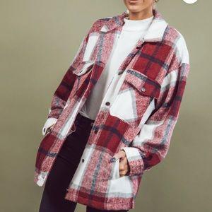 Alexia Plaid Jacket in Wine
